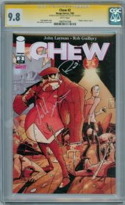 Chew #2 CGC 9.8 Signature Series Signed John Layman & Rob Guillory Image comic